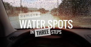 how to remove water spots