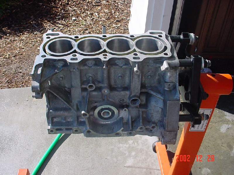 how to clean engine block