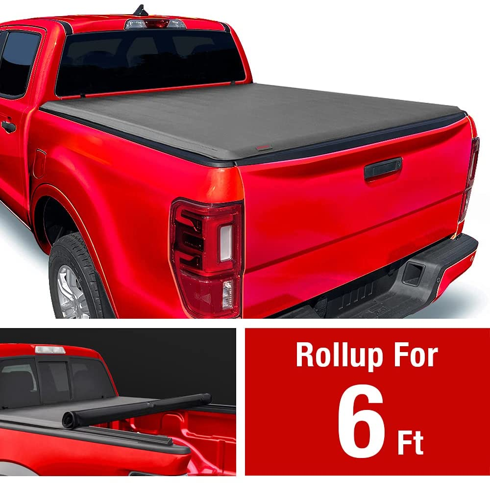 Soft Tri-Fold Truck Bed Tonneau Cover for 1982-2013 Ford Ranger; 1994-2011 Mazda B-Series Pickup