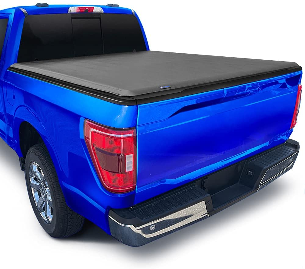 Tyger Auto T1 Soft Roll Up Truck Bed Tonneau Cover Compatible with 2015-2021 Ford F-150