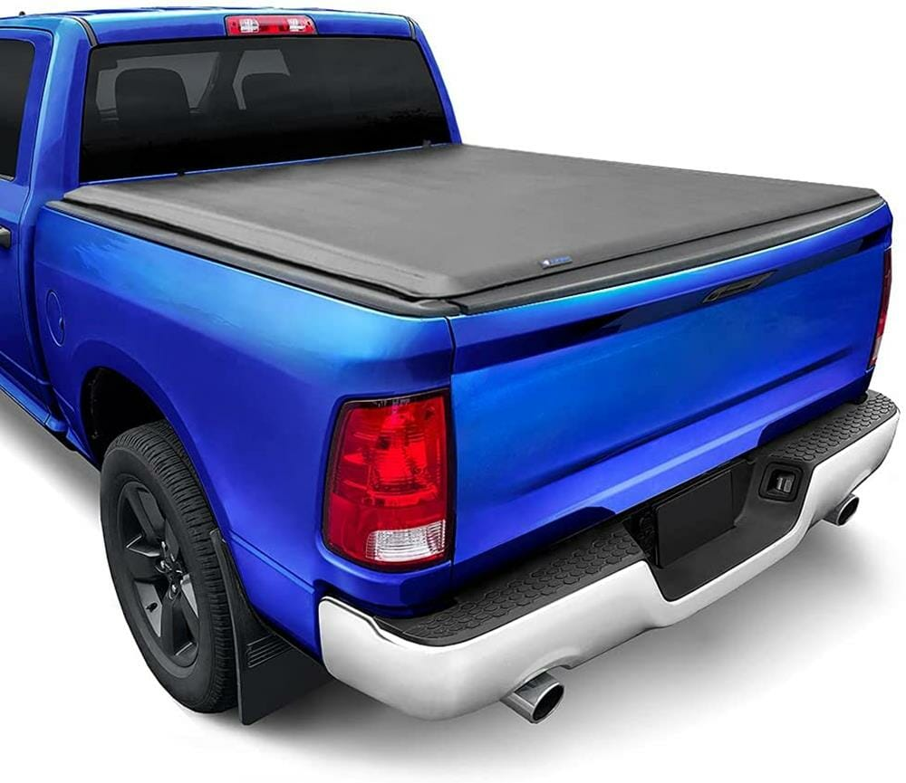 Tyger Auto T1 Soft Roll Up Truck Bed Tonneau Cover Compatible with 2002-2018 Dodge Ram 1500
