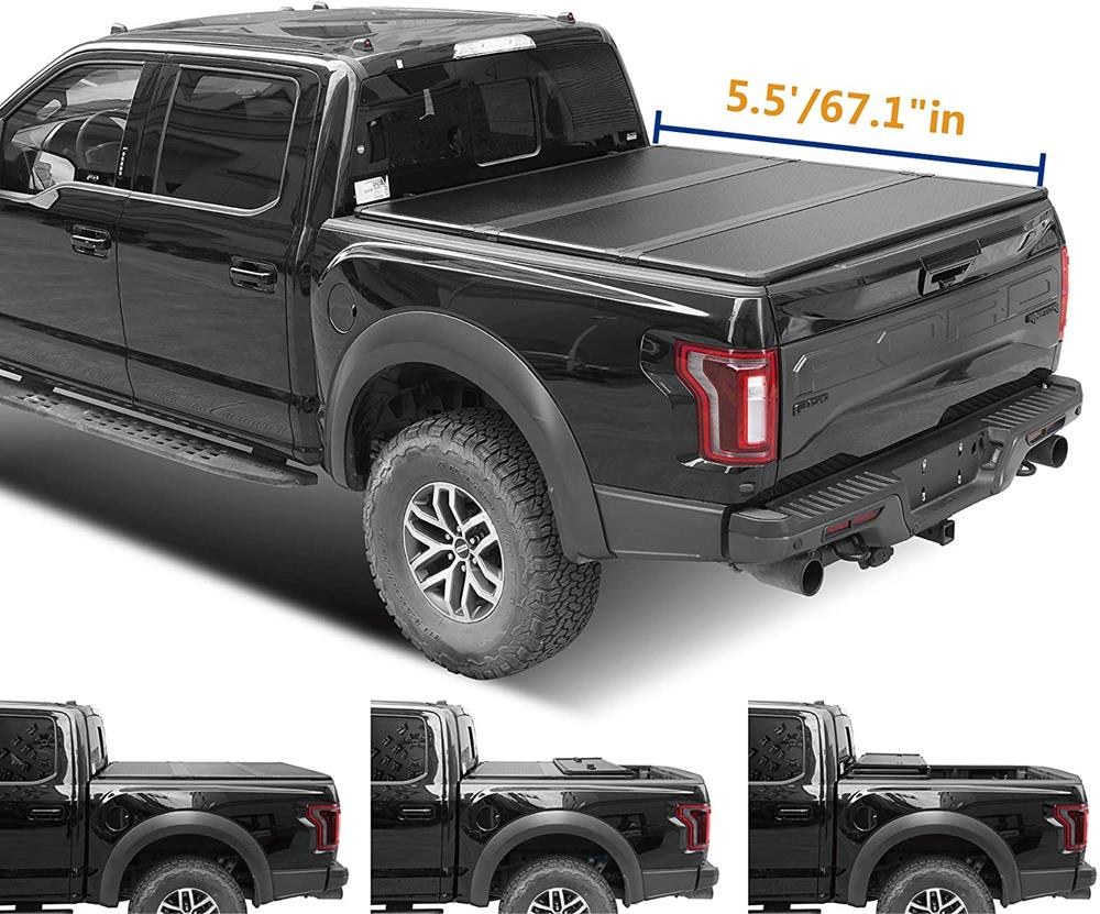 Lyon Cover 5.5ft 67.1 Inches Hard Tri-Fold Truck Pickup Bed For 2015-2021 F150 Tonneau Cover