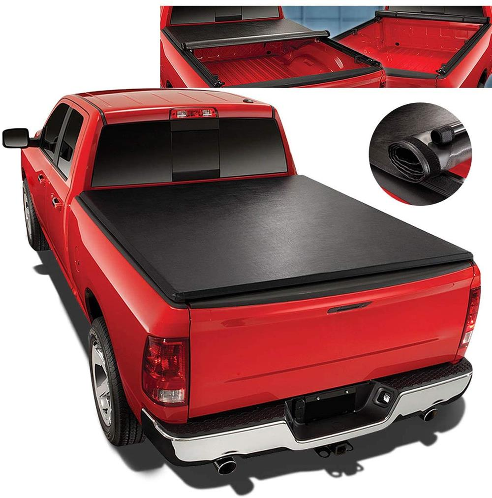 Replacement For 04-14 Ford F150 5.5Ft Fleetside Short Bed Top Soft Vinyl Roll-Up Tonneau Cover