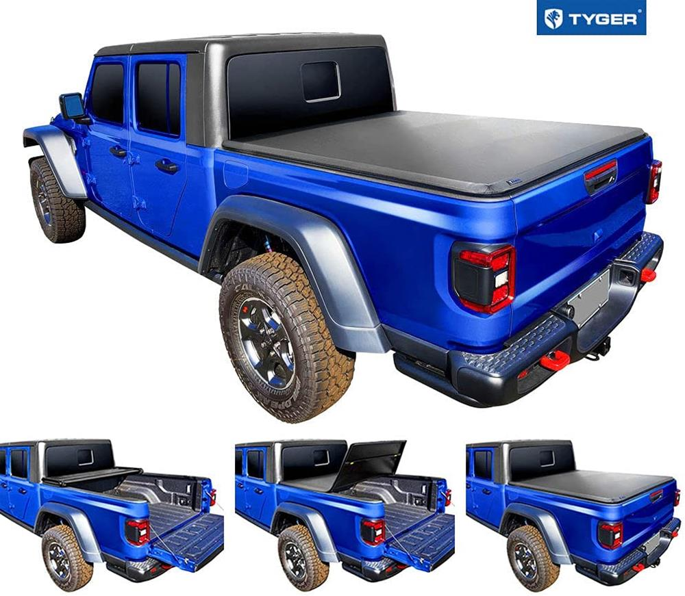 Tyger Auto T3 Soft Tri-Fold Truck Bed Tonneau Cover Compatible