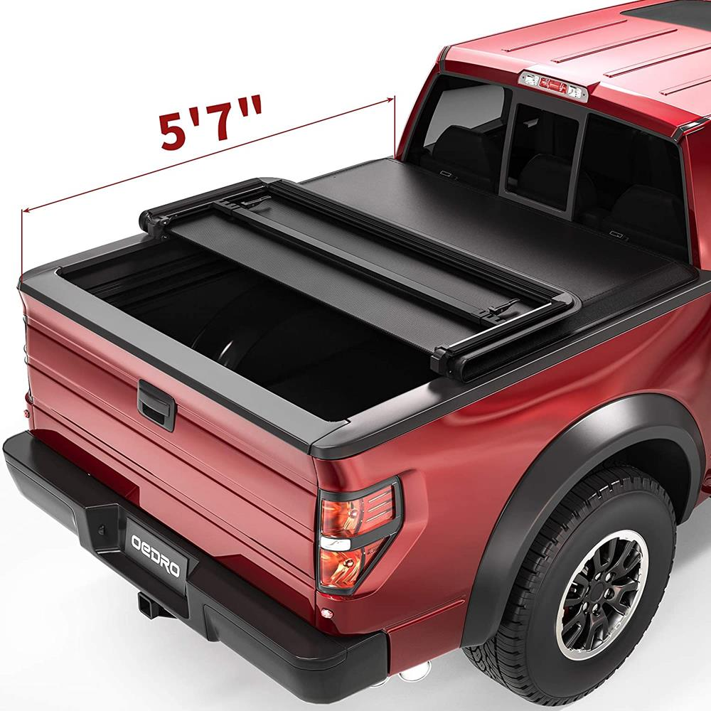 oEdRo Upgraded Soft Tri-Fold Truck Bed Tonneau Cover