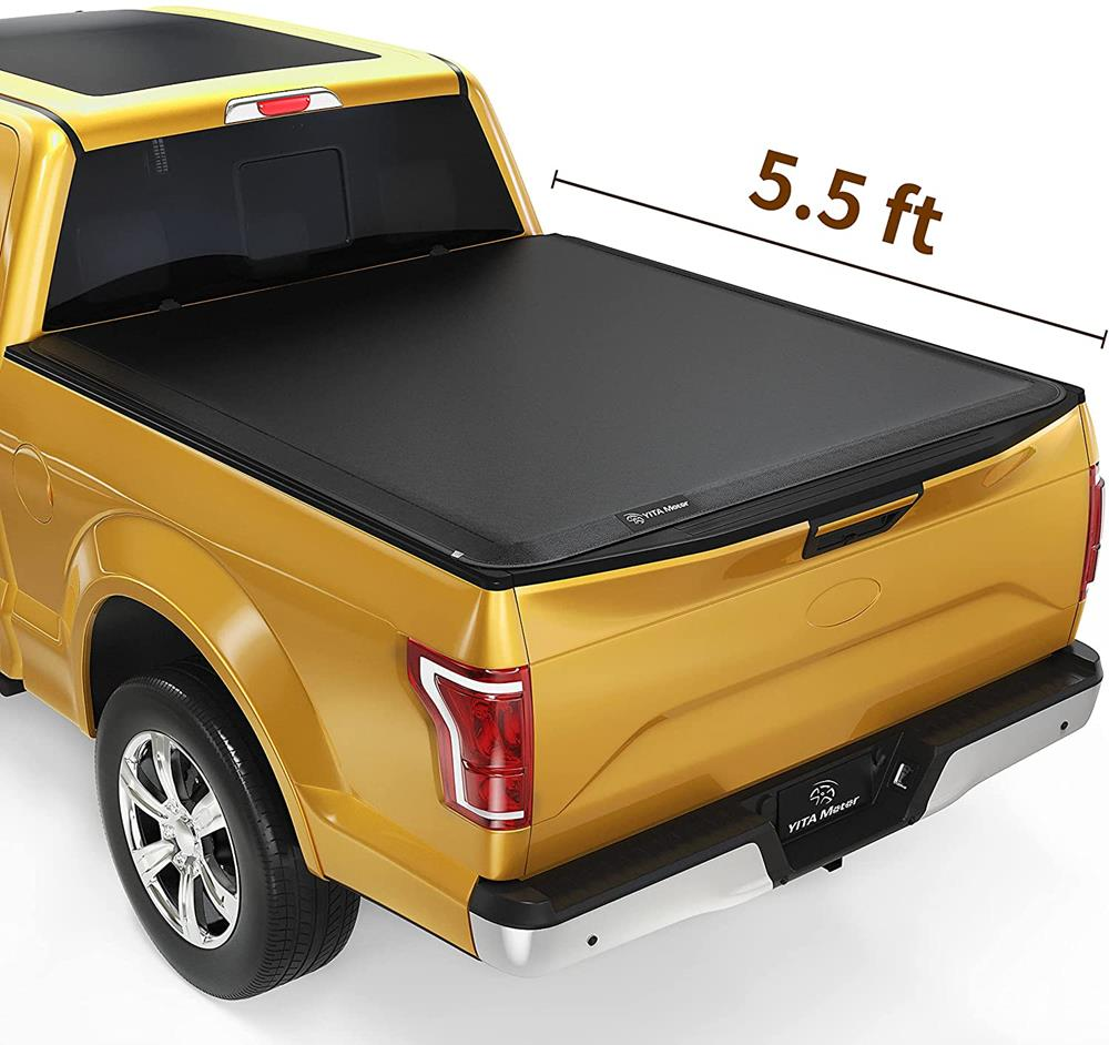 YITAMOTOR Soft Roll Up Truck Bed Tonneau Cover