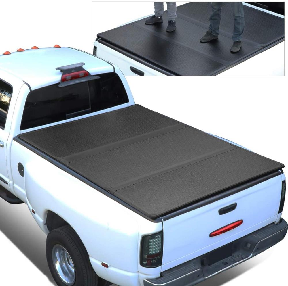 Pickup Truck Bed Hard Top Folding Solid Tri-Fold Tonneau Cover Replacement for Jeep Gladiator JT 2020